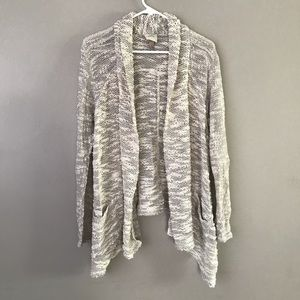 Know Rose asymmetrical knit sweater cardigan
